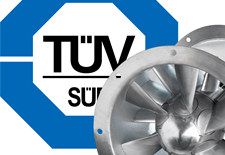 German TÜV SÜD renews certification of the Novenco® ZerAx® fans